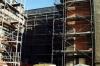 Hofseite Schulgebäude während der Rekonstruktion